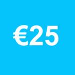 doneer 25 euro