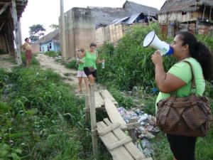 Nuria en vrijwilligers